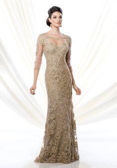 Ivonne D. 214D61 Gold Mother Of The Bride Dress