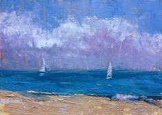 Sailing by maggie capettini Oil ~ 5 x 7