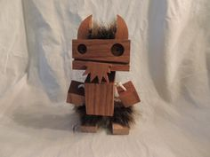 Wooden Viking Robot by WoodPlaneAndSimple on Etsy