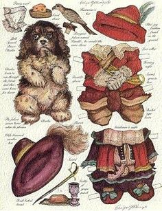 Dogs paper dolls 5