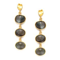 Along with being the perfect addition to any look, these elegant, timeless earrings made of Gold vermeil and Labradorite will also provide protection against negativity, promote self-discovery, and aid in the strengthening of t Keep Jewelry, Self Discovery, Bold Fashion, Thoughtful Gifts, Labradorite, 18k Gold, Pendant Necklace, Drop Earrings, Elegant