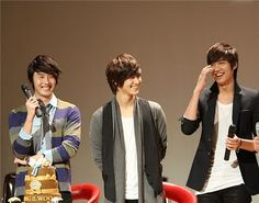 Lee Min Ho, Jung Il Woo, and Kim Bum - 3 of my favorite korean actors in one picture. What?!?!