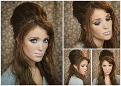 The Freckled Fox : Hair Tutorial// Amy Winehouse + Beehive Alternative (no teasing!)
