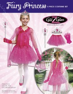 Instantly turn your amazing little one into a beautiful princess / fairy and spark her creative imagination.  This set includes high-quality cape and tutu dress that can be worn as a stand along tutu for a ballet, ballerina dress-up or as a tutu dress / tutu skirt as part of an overall fairy costume, princess costume or simply for pure fun.