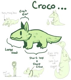 Croco [Open Species] by Mousu.deviantart.com on @DeviantArt - My new favorite Species x3