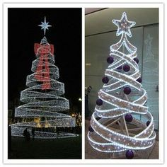 Factory Price giant led artificial spiral christmas tree led christmas tree outdoor wire christmas tree