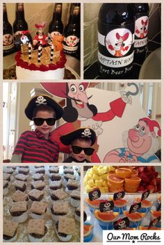 Captain Hook, Peter Pan and Pirate Birthday Party: Decorating ideas, favors, and more.  Follow me at www.OurMomRocks.com