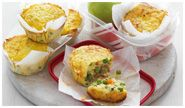 Veggie & Bacon Lunchbox Frittatas