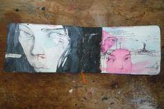 Artist Stella Im Hultberg sketchbook drawings