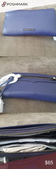 Rebecca minkoff wallet blue authentic leather Rebecca minkoff wallet blue authentic leather Bags Wallets
