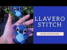 Keychain - Llavero Stitch a Crochet / Aprende a tejer a Stitch, tutorial completo. Disney Crochet Patterns, Crochet Patterns Amigurumi, Crochet Dolls, Easter Crochet, Crochet Baby, Stitch Disney, Lelo And Stitch, Frozen Crochet, Tatting Jewelry