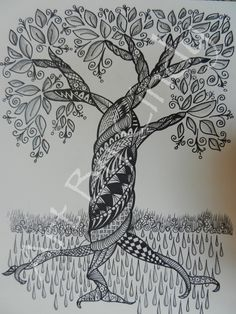 Zentangle Tree by cre8iveart on Etsy