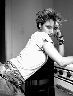 Richard Corman's new collection of photos of Madonna in the 1980s shows her at her gritty and glamorous best.
