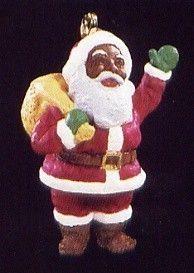 NEED 1995 Hallmark Ornament Joyful Santa African American *Miniature