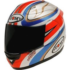 James Toseland helmet replica from Suomy - http://replicaracehelmets.com/product/suomy-extreme-james-toseland-helmet/
