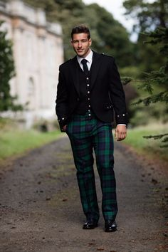 Perhaps a kilt isn't your thing but you'd still like to include some tartan in your outfit? Trews are the option for you. Made to measure in your choice of tartan!
