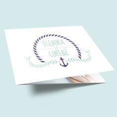 Hochzeitseinladung Anker füreinander - für eine maritime Hochzeit