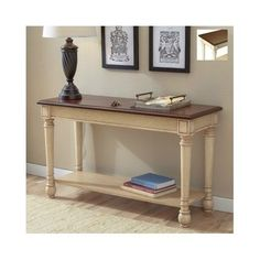 Wood-Console-Table-Sofa-French-Accent-Foyer-Hall-White-Living-Room-Furniture-Top
