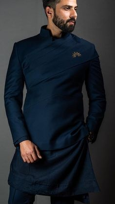 Mens Style Discover 58 Ideas Embroidery Tshirt Ideas Long Sleeve For 2019 Sherwani For Men Wedding, Wedding Dresses Men Indian, Wedding Dress Men, Wedding Suits For Groom, Wedding Men, Nigerian Men Fashion, Indian Men Fashion, Mens Fashion Wear, India Fashion Men