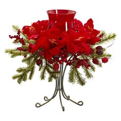 Nearly Natural Amaryllis Candelabrum Silk Flower -- Want additional info? Click on the image.