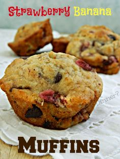 Hun... Whats for Dinner? | Strawberry Banana Chocolate Chip Muffins