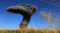 """""""The Singing Ringing Tree"""" is a musical sculpture near Burnley in the North West of England built by architects Tonkin Liu. Sound Installation, Art Installations, Tree Rings, Unique Architecture, Landscape Architecture, Tree Illustration, Tree Sculpture, Backyard Games, Totems"""