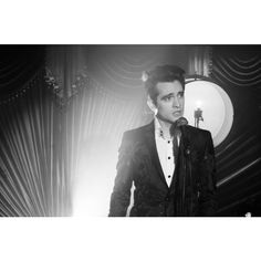 Panic! at the Disco Channels Frank Sinatra in 'Death of a Bachelor'... ❤ liked on Polyvore featuring panic at the disco