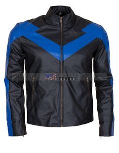 Dick Grayson Nightwing Leather Jacket Costume Online Sale at USA Leather Factory for all batman fans super hero leather jacket Dick Grayson Nightwing. Black Leather Motorcycle Jacket, Black Faux Leather Jacket, Biker Leather, Faux Leather Jackets, Leather Men, Pink Leather, Nightwing, Marvel Anime, Leather Jackets Online