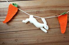 crochet carrot garland