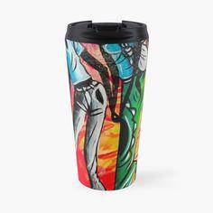 African Artwork, Artwork Design, Mug Designs, Water Bottles, Sell Your Art, Travel Mug, My Arts, Art Prints, Mugs