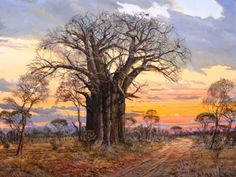 Founded in 1987 - representing a collection of established South African art galleries. View over 2000 artworks by over 100 South African artists and buy fine art for sale online. We are your Home of South African Fine Art. African Artwork, African Paintings, Oil Paintings, Canvas Painting Landscape, Landscape Art, Kunst Portfolio, African Tree, South African Artists, Artist Gallery