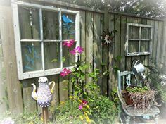 Window dressing in a Flea Market Garden | Flea Market Gardening
