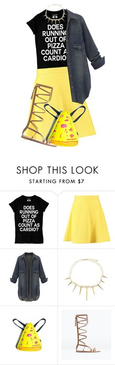"""""""Does Running Out of Pizza Count as Cardio?"""" by nicolle77 ❤ liked on Polyvore featuring Sportmax and Zara"""