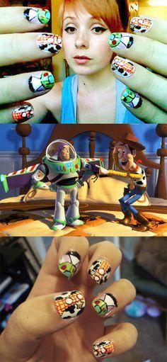 Disney Pixar Toy Story nails by TinyTangerines