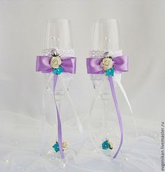 """Купить Свадебные бокалы """"Сиреневая дымка"""" - свадебные бокалы, бокалы свадебные, бокалы для свадьбы"""