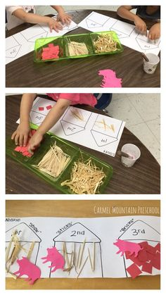 Three little pigs activity-Fairytales/Nursery Rhymes theme Nursery Rhymes Preschool, Nursery Activities, Rhyming Activities, Preschool Literacy, In Kindergarten, Toddler Activities, Preschool Activities, Preschool Farm Theme, Nursery Rhyme Crafts