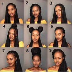 Cute Box Braids Hairstyles, Box Braids Hairstyles For Black Women, Braids Hairstyles Pictures, Twist Braid Hairstyles, Black Girl Braids, African Braids Hairstyles, Baddie Hairstyles, Braids For Black Hair, Twist Braids