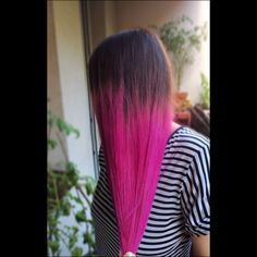 Pink ombre - my work, my angel #homemade #pinkhair #pinkombre #ombre #pink #mywork #longhair