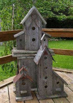 Barn board birdhouses