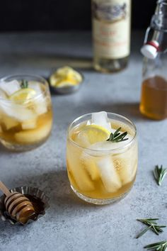 Lillet Spritzer with Honey and Rosemary is made with a simple syrup to balance out the gin. It mellows things out for a smooth finish.