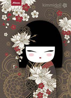 Kimmidoll Agenda 2014 on Behance Momiji Doll, Kokeshi Dolls, Japanese Quilts, Japanese Art, Image Deco, Asian Quilts, Asian Cards, Cute Illustration, Japan Design