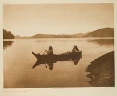Edward Sheriff Curtis. Canoeing on Clayoquot Sound, 1915. Dubuque Museum of Art, Dubuque, Iowa. Gift of the Dubuque Cultural Preservation Committee, an Iowa general partnership consisting of Dr. Darryl K. Mozena, Jeffrey P. Mozena, Mark Falb, Timothy J. Conlon, and Randy Lengeling. 2009.373. #Lifeonthewater
