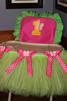 High Chair TuTu AND Cover Butterfly by TamaraMarieOriginals