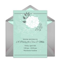 Gorgeous invitation template that you can send online for free. Personalize and send to friends and family for a memorable celebration. It's perfect for an engagement party or wedding! #engagement
