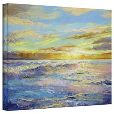 $68 overstock Michael Creese 'Florida Sunrise' Gallery-Wrapped Canvas Art