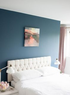 Unique Wedding Gifts with Rise Art | Headboard Fabric Ikea Lamps Brass White Farrow and Ball Stiffkey Blue Feature Wall White Company Bed Sheets Bedroom Blush Pink Curtains Velvet Side Boards