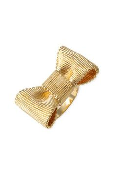 Kate Spade gold bow ring // I have and am wearing this now.