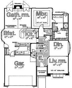 - 42128DB | 1st Floor Master Suite, Bonus Room, CAD Available, PDF, Photo Gallery, Traditional | Architectural Designs