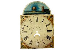 18th-C. Grandfather  Clock Face on OneKingsLane.com, $265