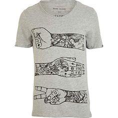 Grey tattoo arm print t-shirt - print t-shirts - t-shirts / vests - men. This a DOPE ass shirt.